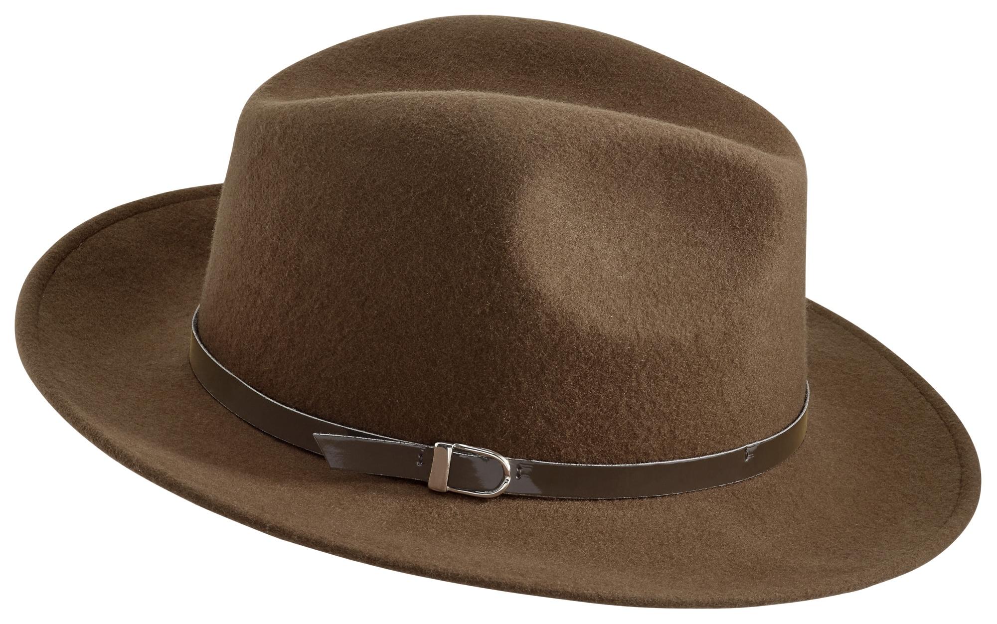 COLLEZIONE ALESSANDRO Hut mit Lackband | Accessoires > Hüte > Cowboyhüte | Braun | Wolle | Collezione Alessandro