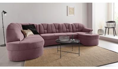 DOMO collection Wohnlandschaft, in großer Farbvielfalt, wahlweise mit Bettfunktion, frei im Raum stellbar kaufen
