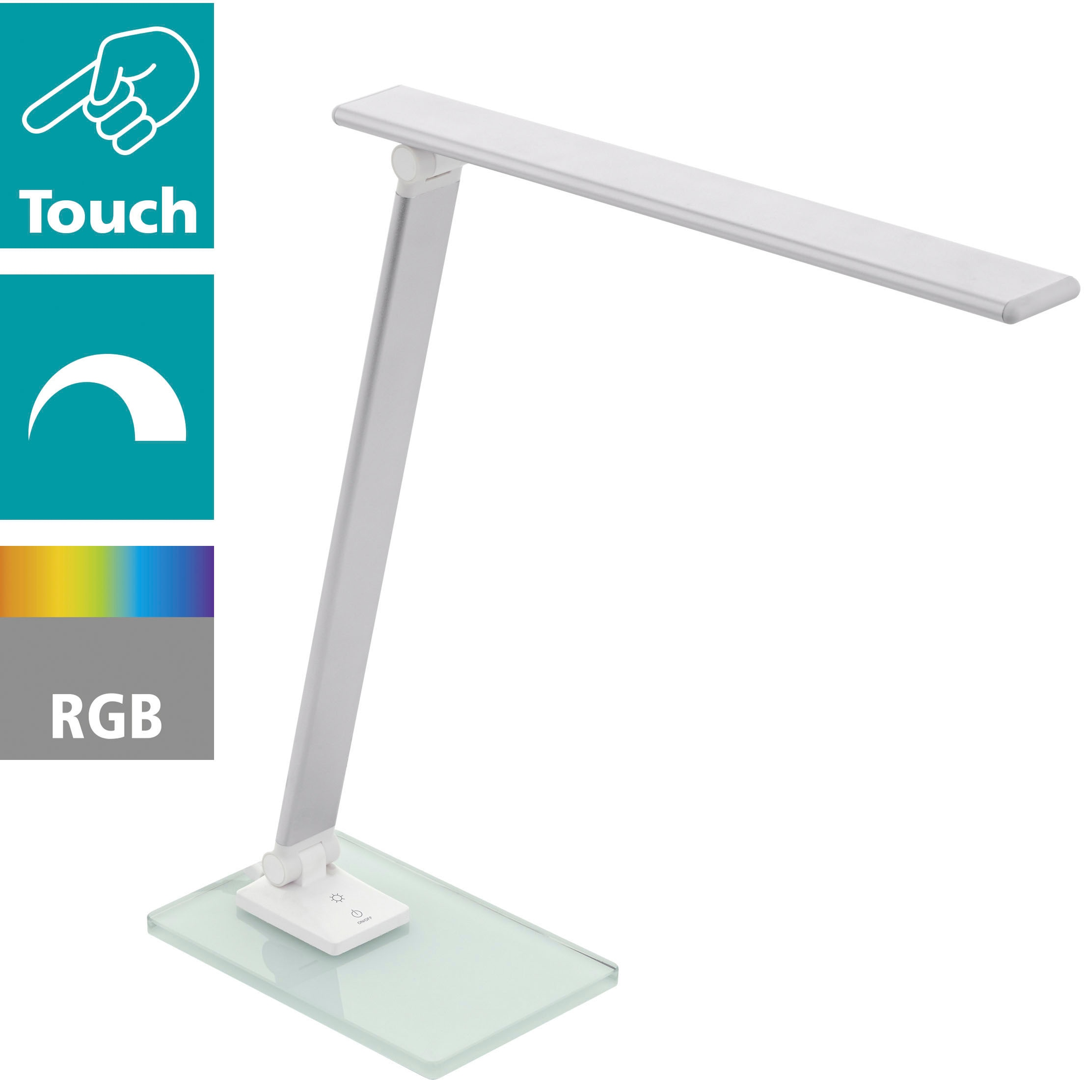 EGLO Tischleuchte CONVERSANA, LED-Board, Neutralweiß, 3-step dimming, Farbwechsler