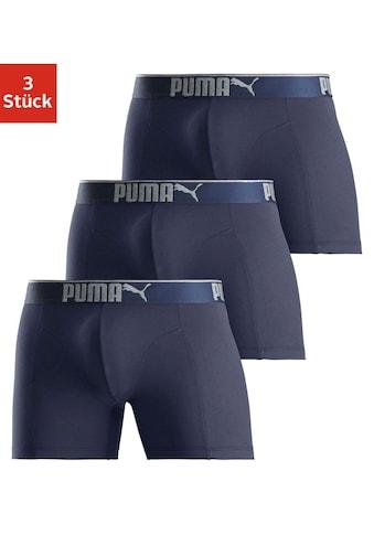 PUMA Boxer »Lifestyle Sueded Cotton Boxer 3P« (3 Stück) kaufen