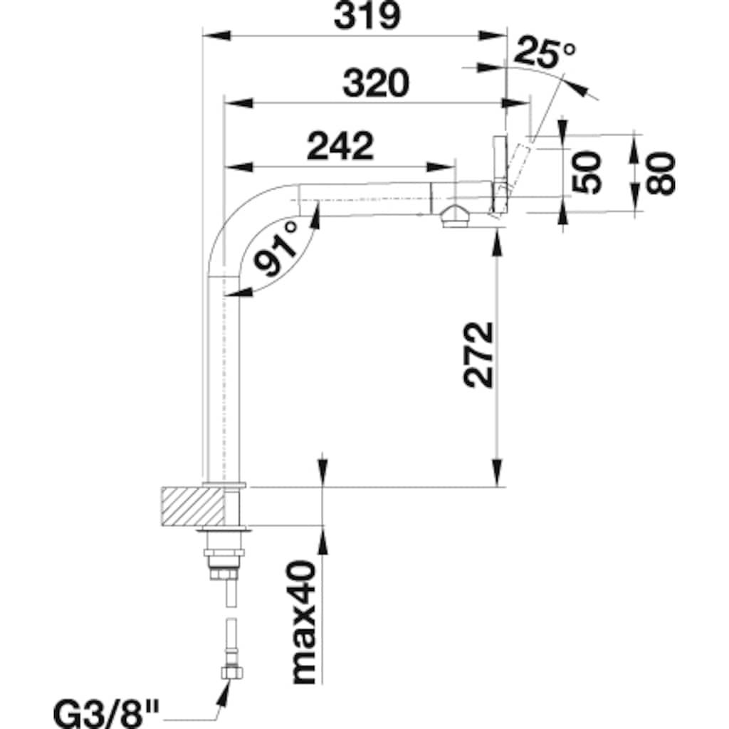 Blanco Küchenarmatur »VONDA«, Hochdruck