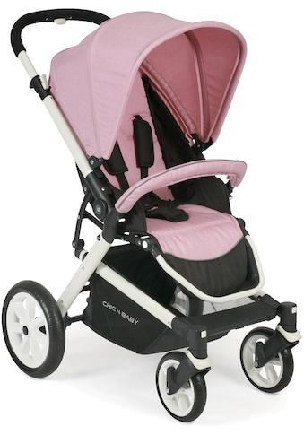CHIC4BABY Sport-Kinderwagen »Boomer, rosa«, mit schwenk- und feststellbaren Vorderrädern kaufen