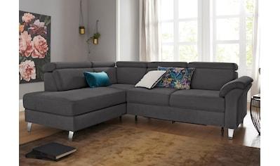 sit&more Ecksofa, inklusive Kopfteilverstellung und Federkern, wahlweise mit Bettfunktion und Bettkasten, frei im Raum stellbar kaufen