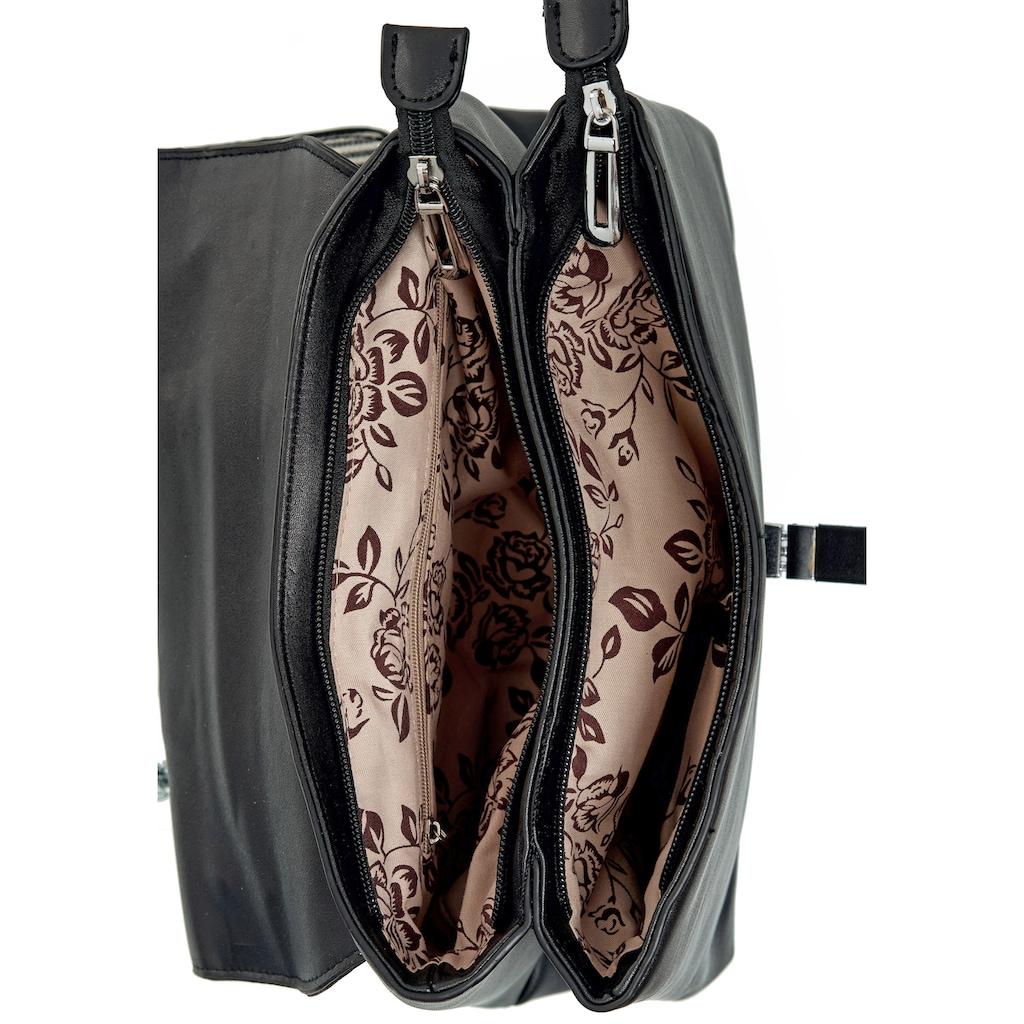 Emma & Kelly Schultertasche, aus hochwertigem Materialmix