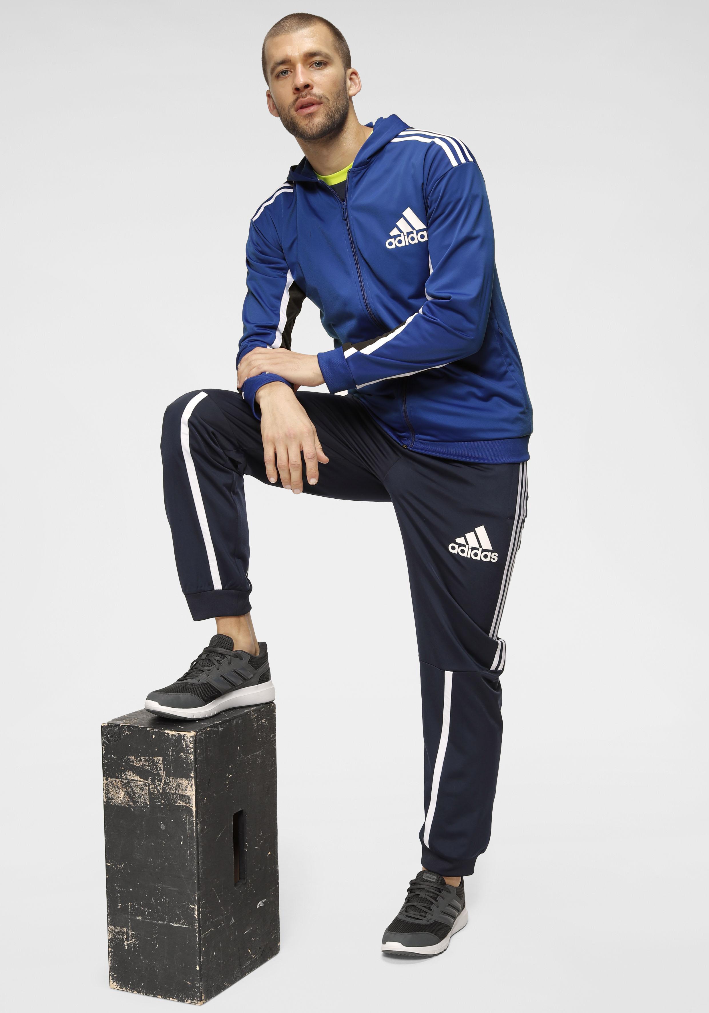 adidas Performance Trainingsanzug TRACK SUIT (Set, 2 tlg.) blau Herren Fussball Bekleidung