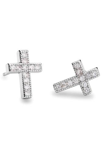 NANA KAY Paar Ohrstecker »Kreuz, Very Petite, ST1227«, mit Zirkonia kaufen