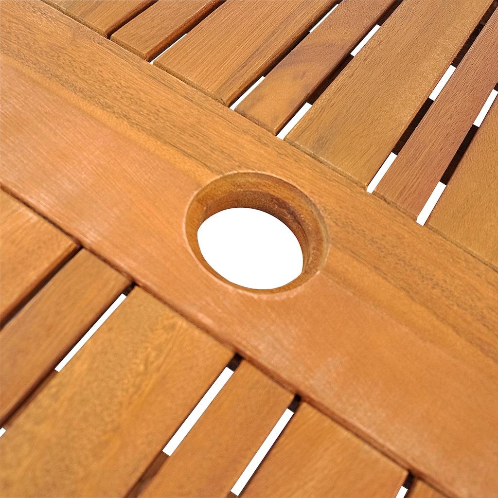 indoba Gartentisch »Sun Flair«, oval, ausziehbar - IND-70001-TI