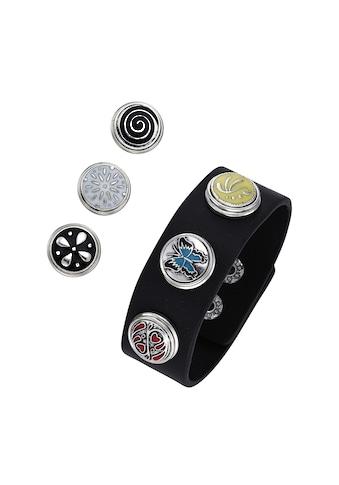 Jacques Charrel Armband »Kunstlederarmband mit Druckknöpfen, Metall« kaufen