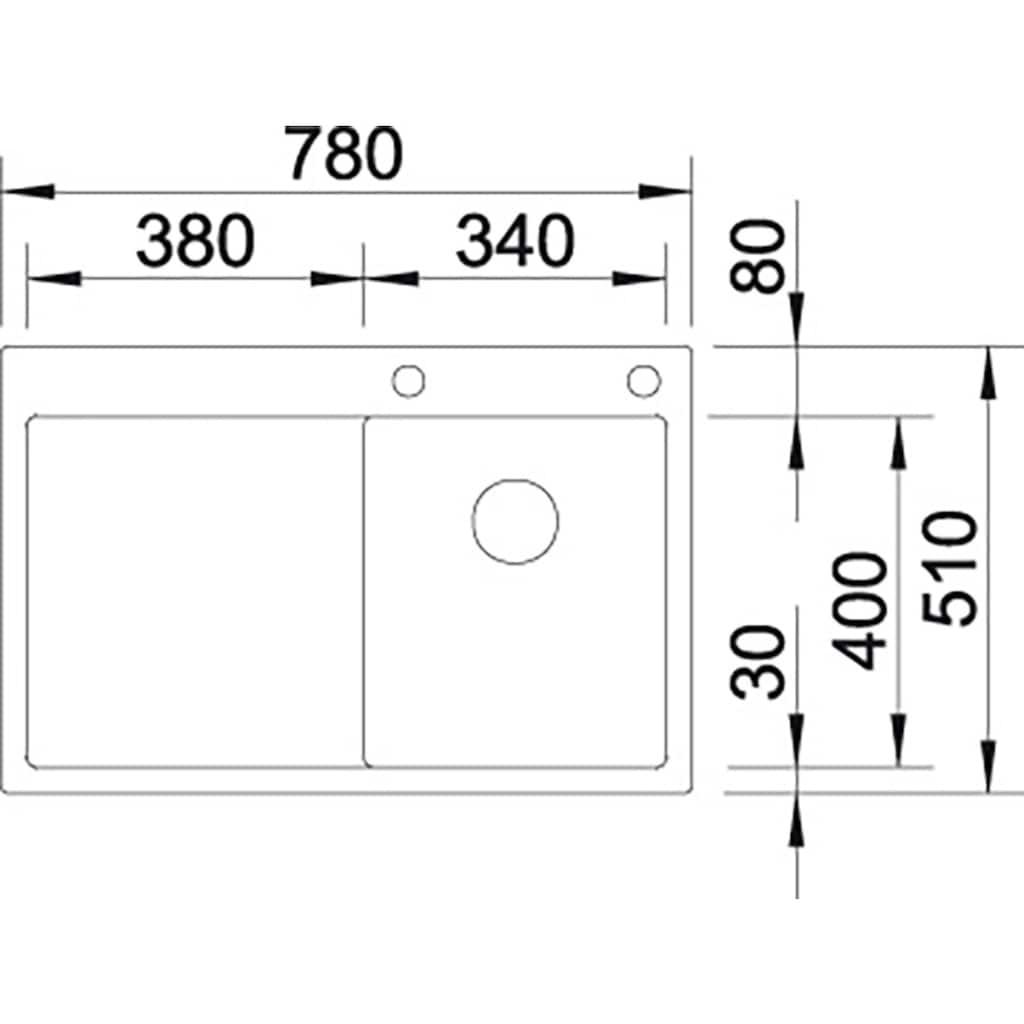 Blanco Küchenspüle »CLARON 4 S-IF«