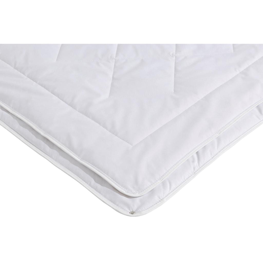 f.a.n. Schlafkomfort Naturfaserbettdecke »Argali«, 4-Jahreszeiten, Füllung Argalihaar, Bezug 100% Baumwolle, (1 St.), mit Kaschmirfeeling