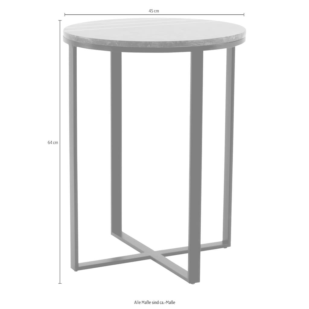 Kayoom Beistelltisch »Beistelltisch Louis 325«, Marmor-Tischplatte