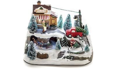 KONSTSMIDE LED Dekolicht, LED Szenerie Weihnachtsbaumverkauf mit Animation und 8... kaufen