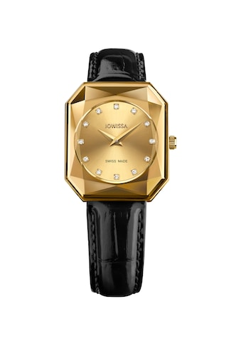 JOWISSA Schweizer Uhr »Facet Radiant«, mit Lederarmband kaufen