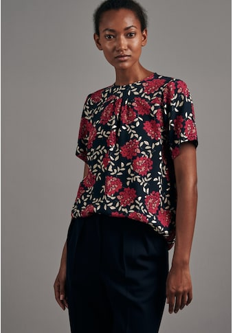 seidensticker Shirtbluse »Schwarze Rose«, Kurzarm Rundhals Floral kaufen