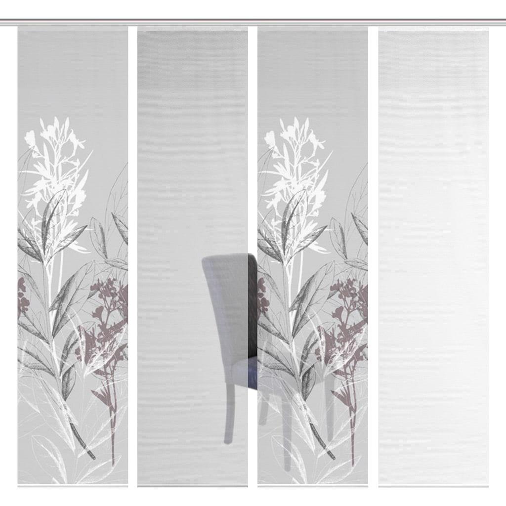 Vision S Schiebegardine »4ER SET SEMORA«, HxB: 260x60, Schiebevorhang 4er Set Digitaldruck
