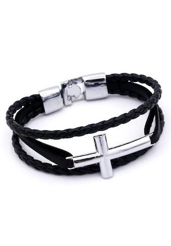 J.Jayz Armband »Kreuz, mehrreihig, teilweise geflochten« kaufen
