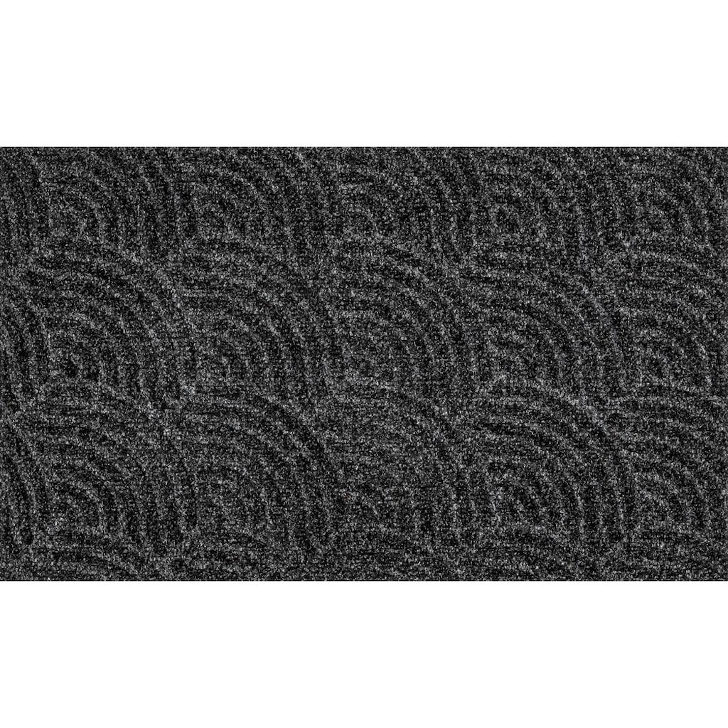 wash+dry by Kleen-Tex Fußmatte »Waves«, rechteckig, 8 mm Höhe, Fussabstreifer, Fussabtreter, Schmutzfangläufer, Schmutzfangmatte, Schmutzfangteppich, Schmutzmatte, Türmatte, Türvorleger, In- und Outdoor geeignet, waschbar