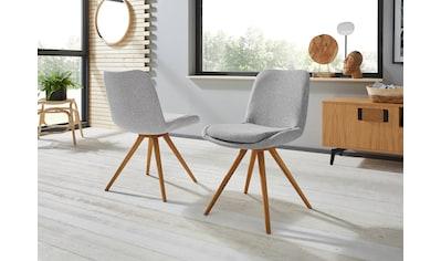 INOSIGN Schalenstuhl »Malmö«, Bezug in Strukturstoff oder Leder und das Gestell in... kaufen