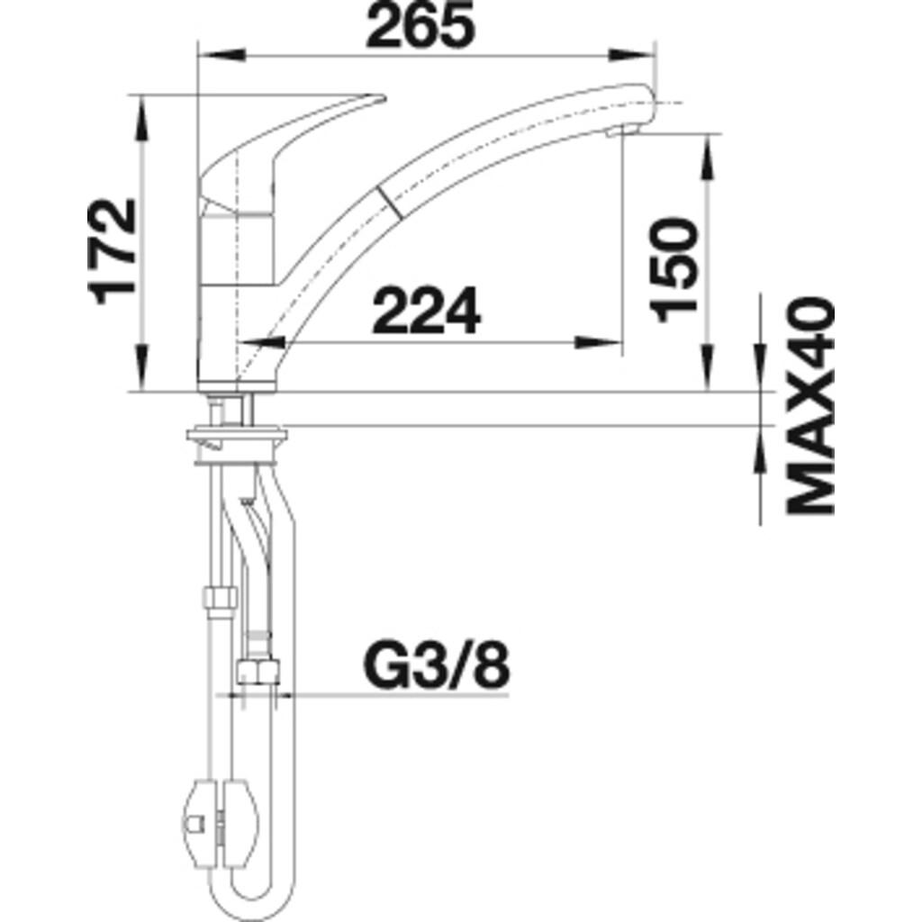 Blanco Küchenarmatur »BRAVON-S«, Hochdruck, mit ausziehbarem Auslauf
