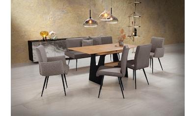 K+W Komfort & Wohnen Essgruppe »Giacomo«, (6 tlg., Polsterbank, 2 Stühle und 2... kaufen