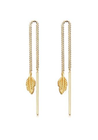 Elli Paar Ohrhänger »Feder Boho Hippie Durchziehen 925 Silber« kaufen