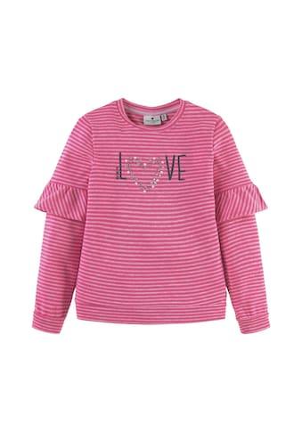 TOM TAILOR Sweatshirt »Gestreiftes Sweatshirt mit Artwork« kaufen