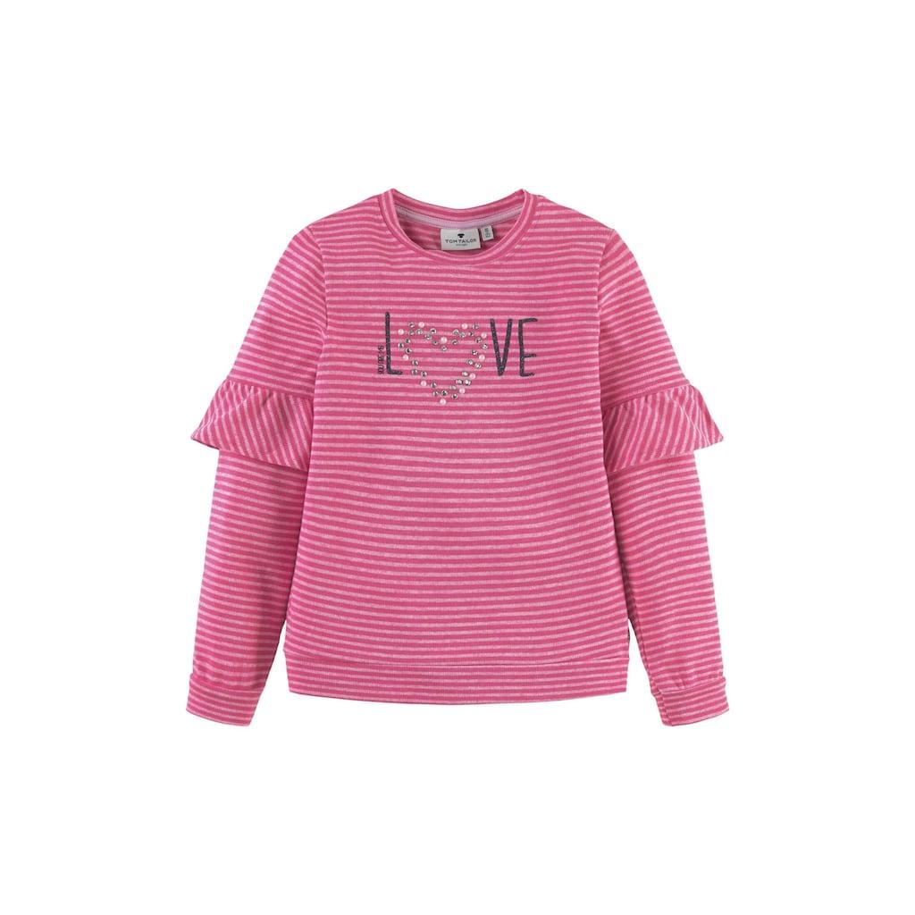 TOM TAILOR Sweatshirt »Gestreiftes Sweatshirt mit Artwork«