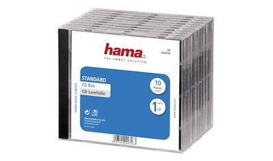 Hama CD - Leerhülle Standard, 10er - Pack, Transparent/Schwarz kaufen