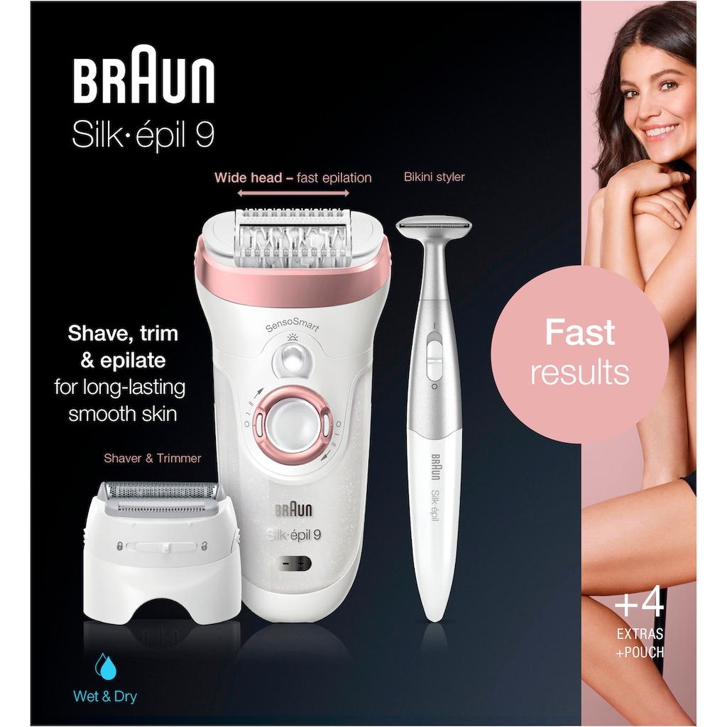 Braun Epilierer »Silk-épil 9 9-890«, 4 St. Aufsätze, für Frauen für eine langanhaltende Haarentfernung