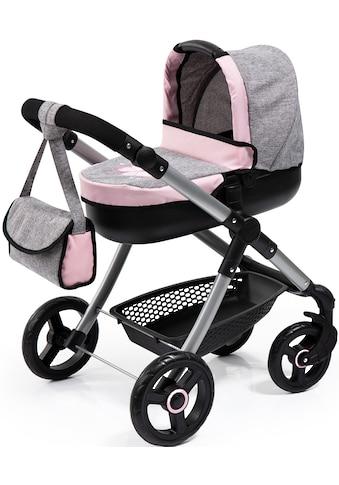 Bayer Puppenwagen »Style, grau/rosa«, mit Wickeltasche kaufen