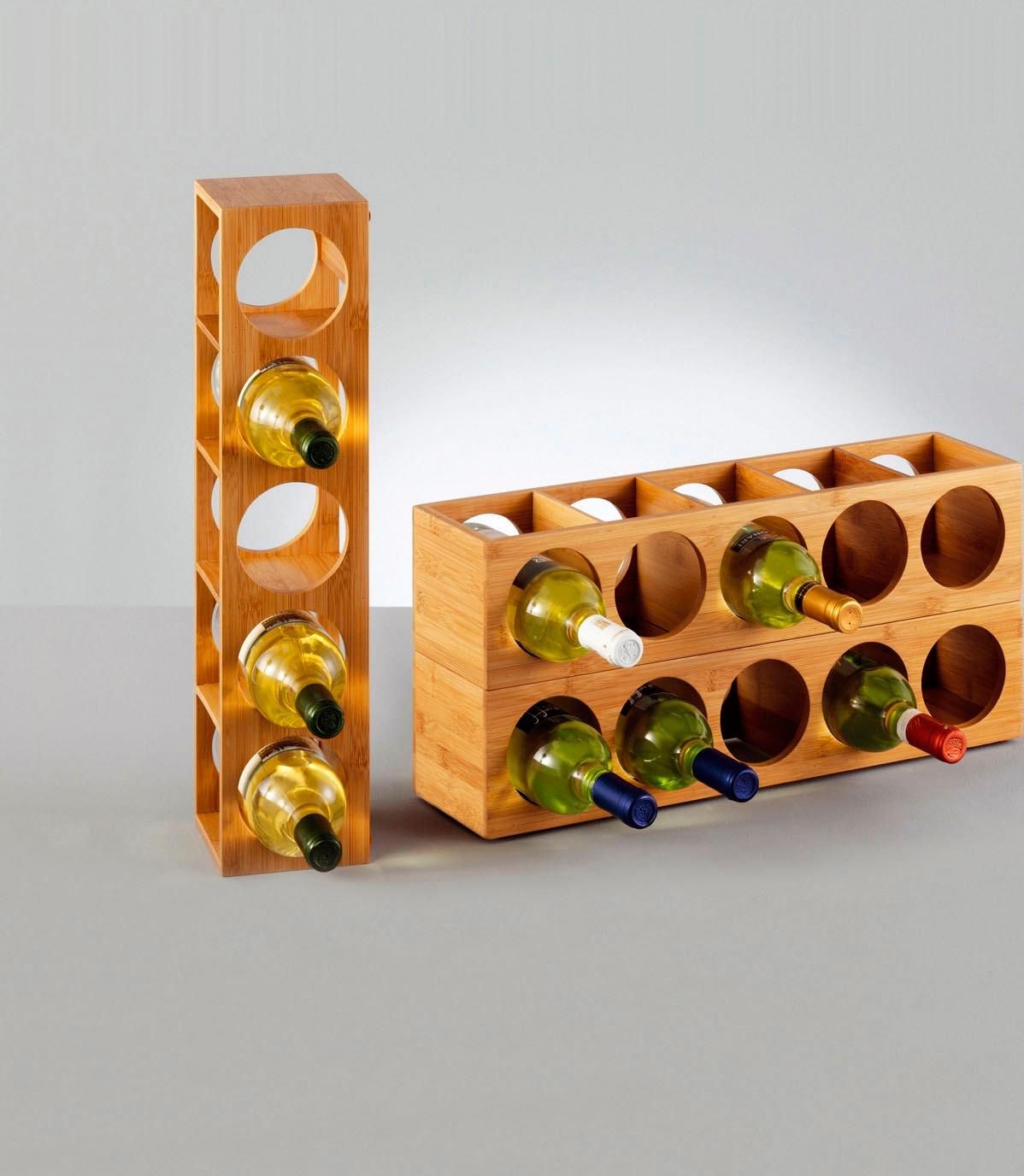 """Zeller Present Weinregal """"Bamboo"""" Wohnen/Möbel/Kleinmöbel/Regale/Weinregale"""