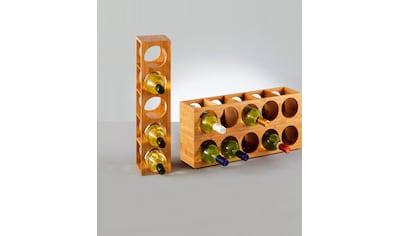 Zeller Present Weinregal »Bamboo«, für bis zu 5 Weinflaschen geeignet kaufen