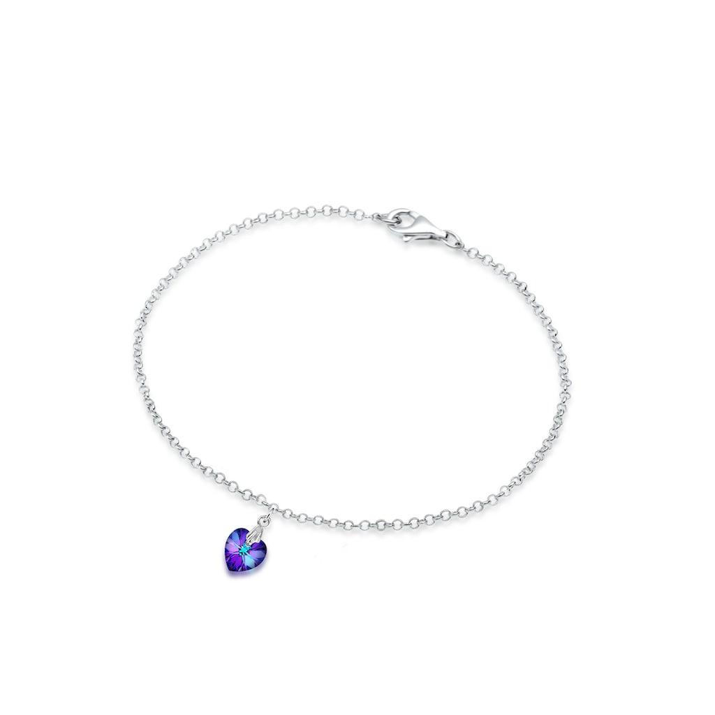 Elli Armband »Herz Kristalle 925 Sterling Silber«