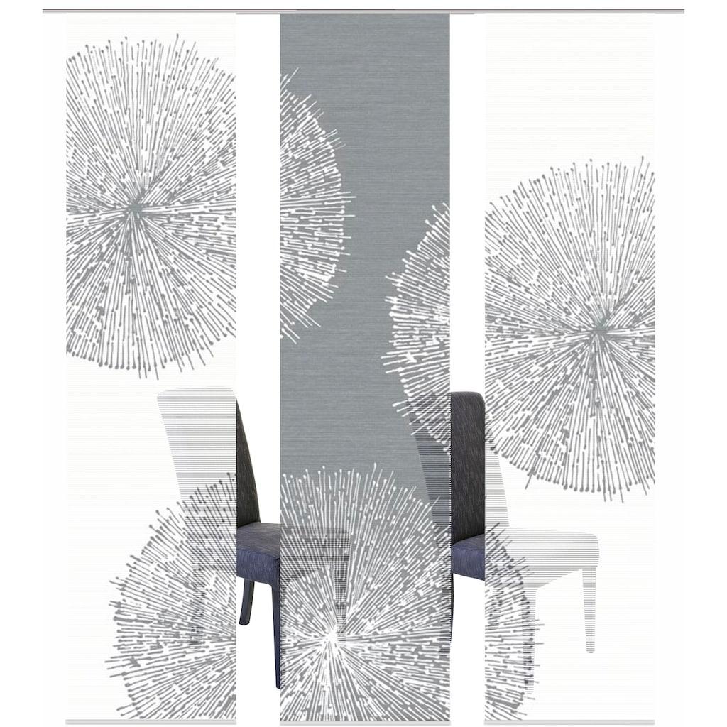 Vision S Schiebegardine »3ER SET CRISTON«, HxB: 260x60, Schiebevorhang 3er Set Digitaldruck
