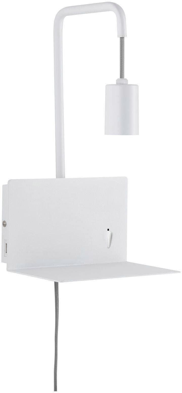 Paulmann,LED Wandleuchte Calvani mit Ablage max 1x40W E27 Weiß 230V Metall