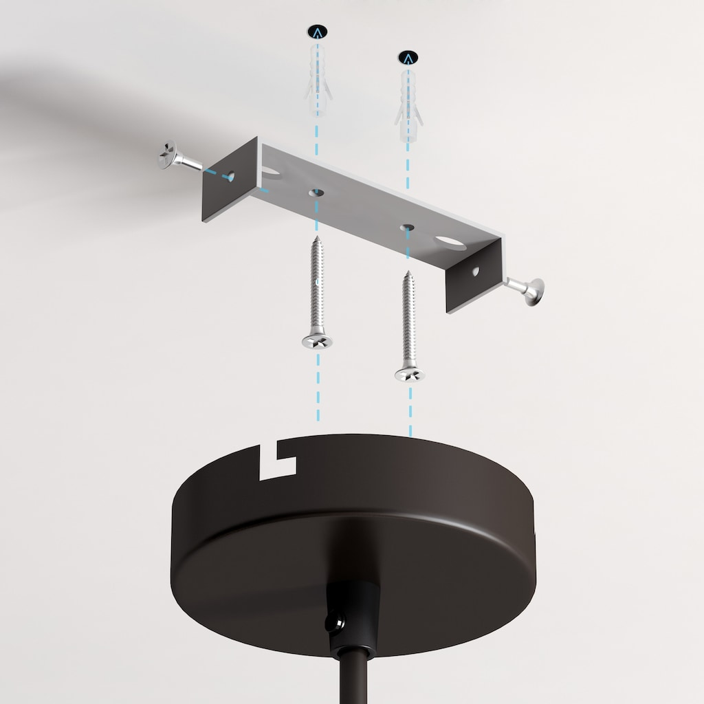 B.K.Licht Pendelleuchte »Auriga«, E27, 2 St., LED Design Hängelampe schwarz-gold Hänge-Leuchte Küche Deckenlampe E27