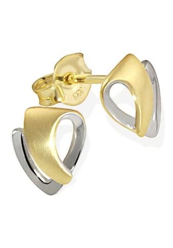 goldmaid Paar Ohrstecker Gold 333/ -  Bicolor matt und hochglanzpoliert kaufen