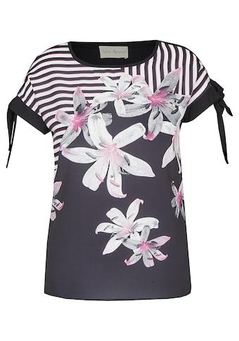 VIA APPIA Romantisches Blusen - Shirt mit Front - Print kaufen