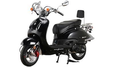 Alpha Motors Motorroller »Retro Firenze«, 50 cm³, 45 km/h, Euro 5, 3 PS, mattschwarz kaufen