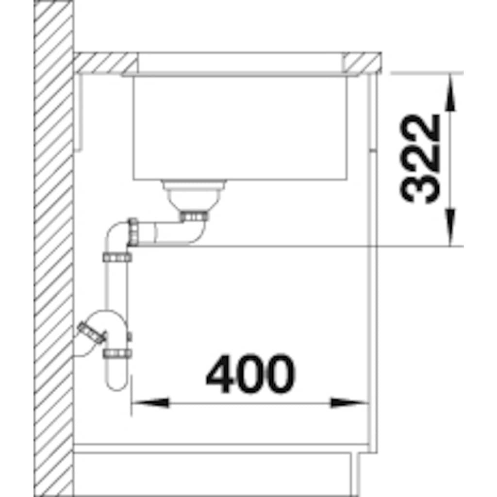 Blanco Granitspüle »SUBLINE 700-U Level«, aus SILGRANIT®