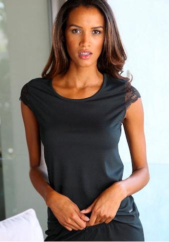 LASCANA T-Shirt, mit Spitzenärmeln kaufen