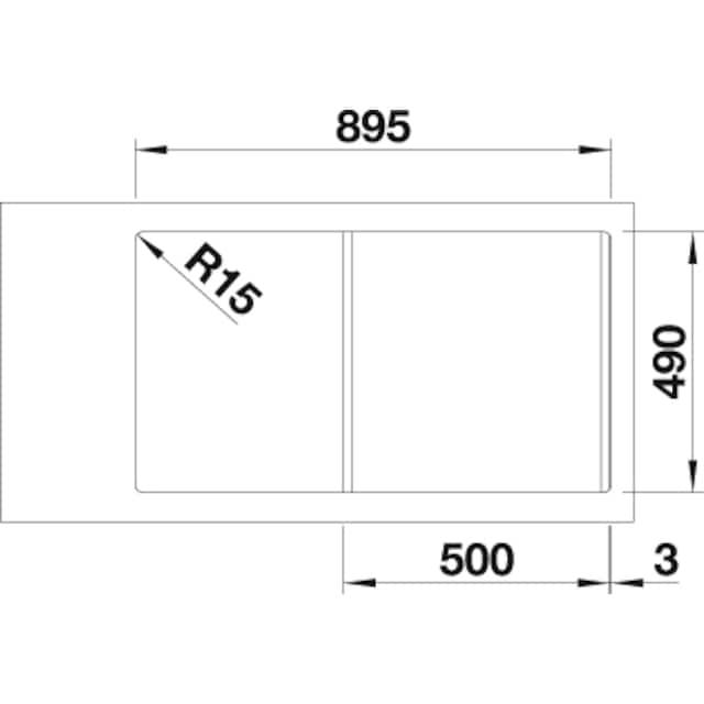 BLANCO Granitspüle »CLASSIC Neo 5 S«, aus SILGRANIT®, benötigte Unterschrankbreite: 50 cm