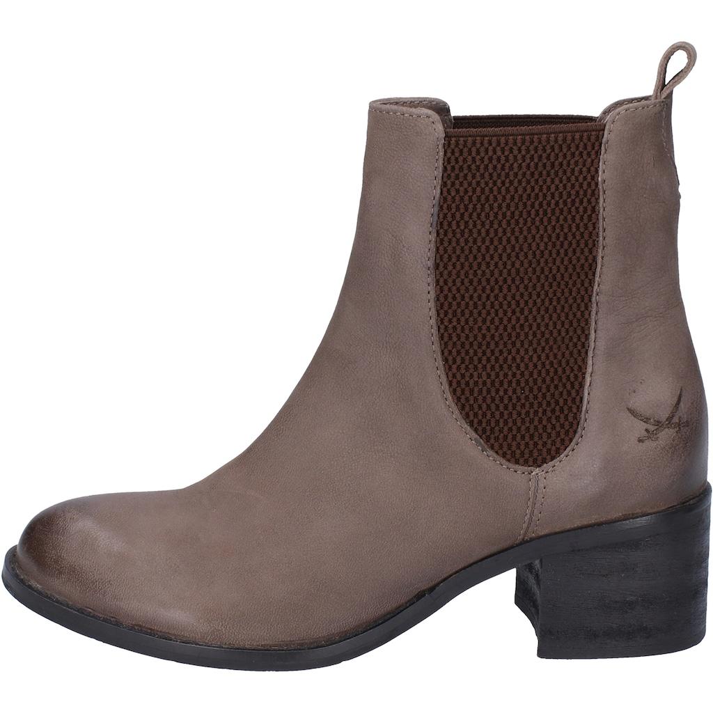 Sansibar Stiefelette »Leder/Textil«