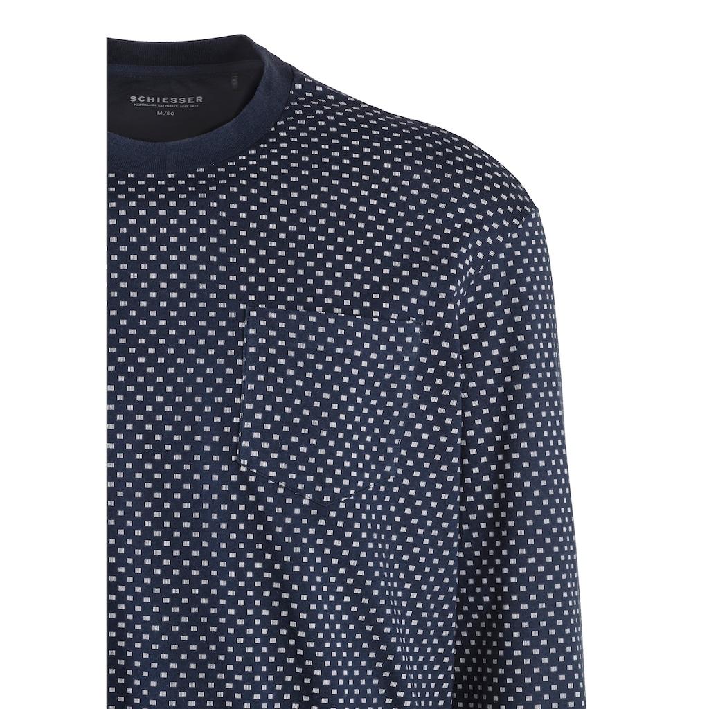 Schiesser Pyjama, mit Brusttasche