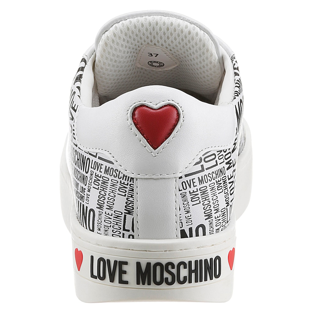 LOVE MOSCHINO Plateausneaker, mit Allover-Print