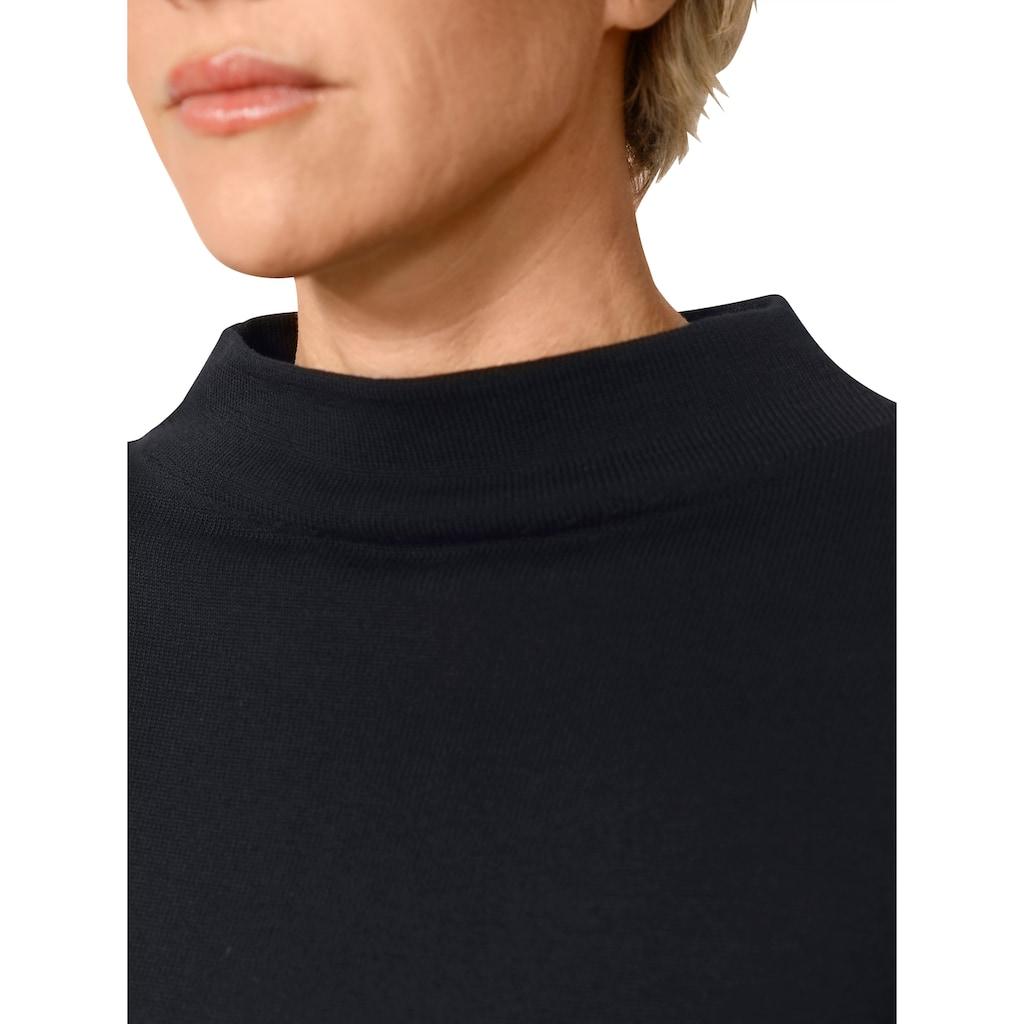 Mona Stehkragenpullover, mit attraktiver Bordüre
