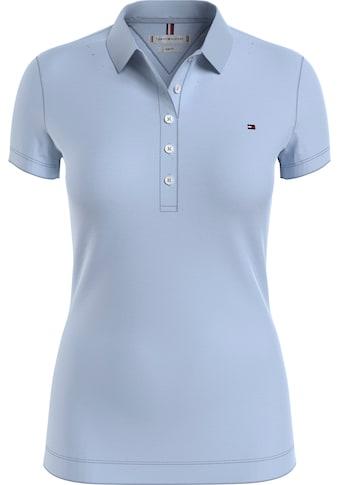 Tommy Hilfiger Poloshirt »SLIM ROUND-NK TOP SS«, mit seitlich kleinen Schlitzen &... kaufen