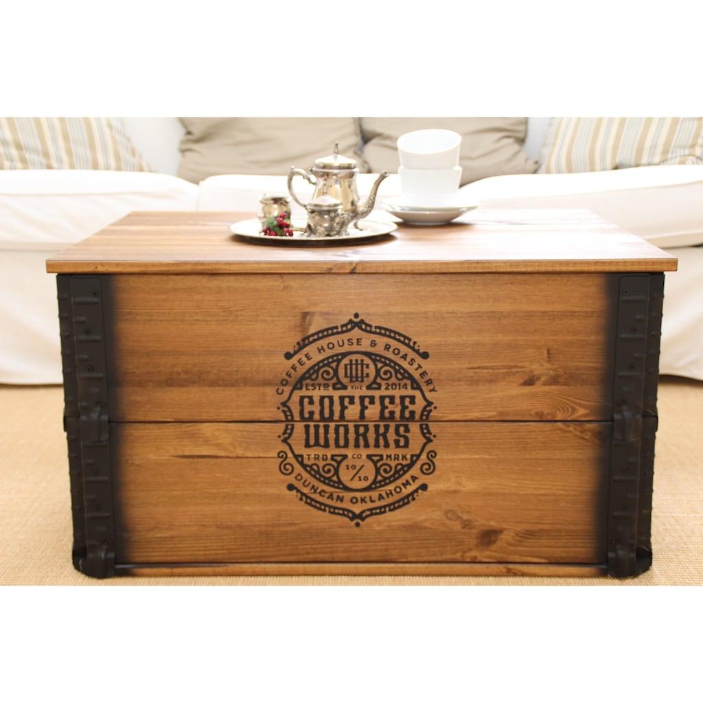 Uncle Joe´s Truhentisch »Coffee Works«, im Vintage-Design