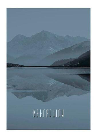 Komar Poster »World Lake Reflection Steel«, Natur, Höhe: 40cm kaufen