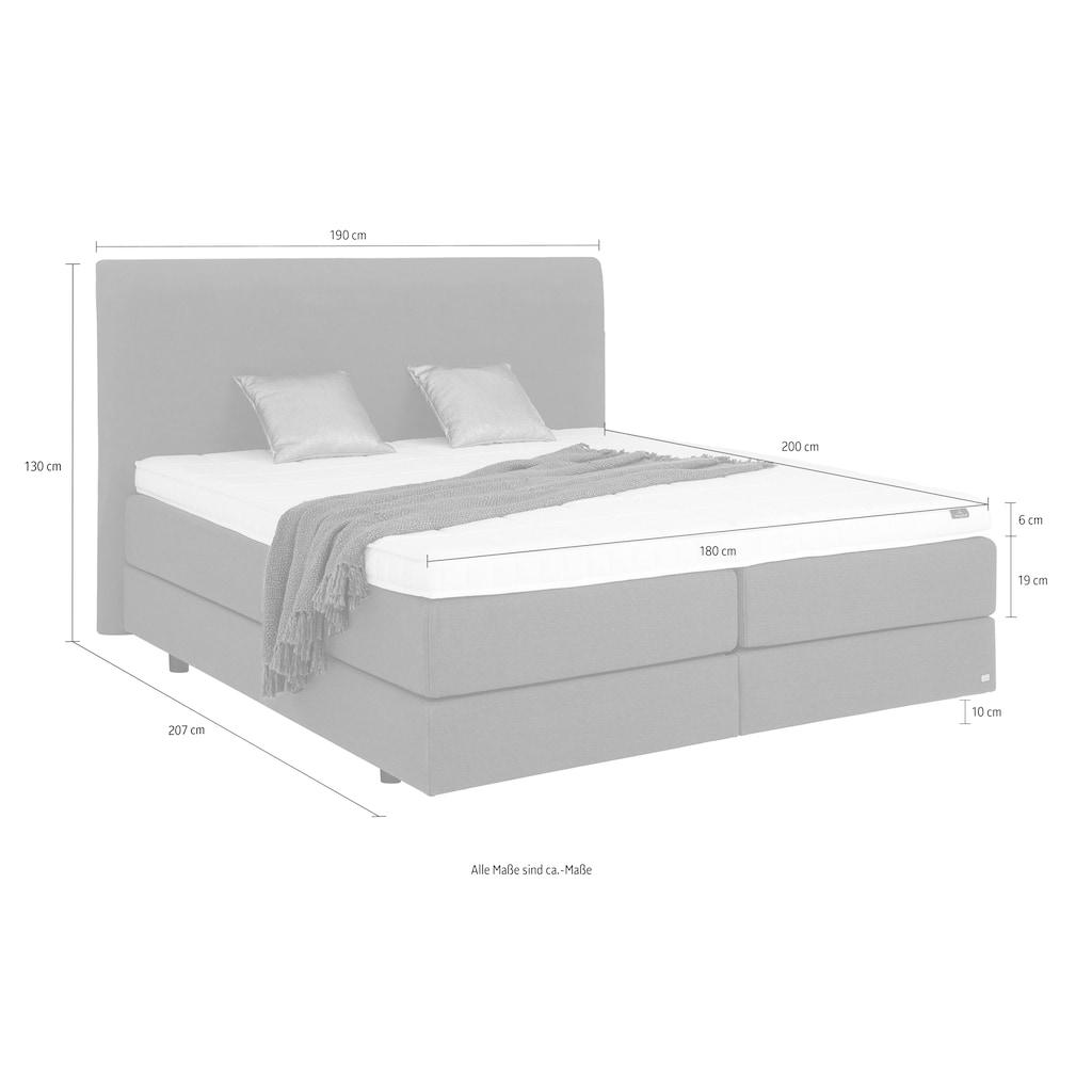 Villeroy & Boch Boxspringbett »LAILA«, Doppelbett in Schwebeoptik, motorisch verstellbar, Kopfteilhöhe 130 cm
